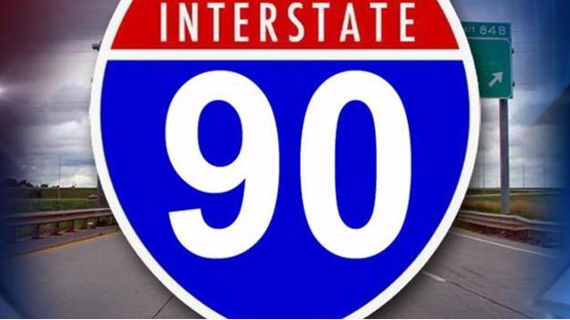 Water Over Interstate 90 Forces Drivers To Take Detour