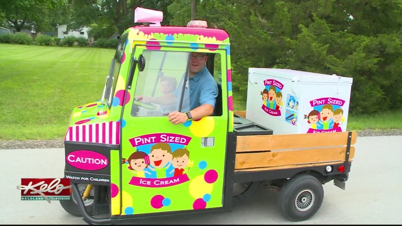 family creates ice cream truck for the town