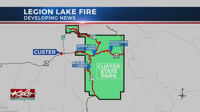 Legion Lake Fire Burns In Custer State Park