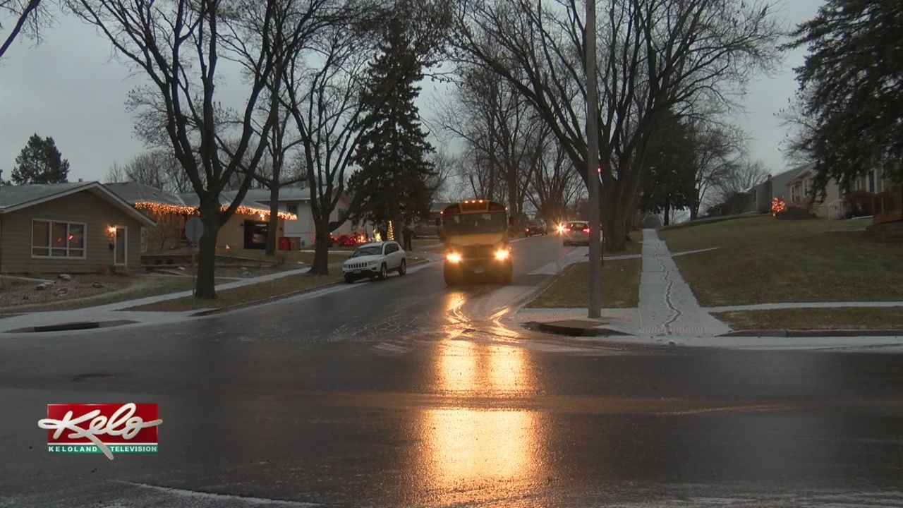 Keloland Auto Mall >> Slick Streets Send Vehicles Sliding