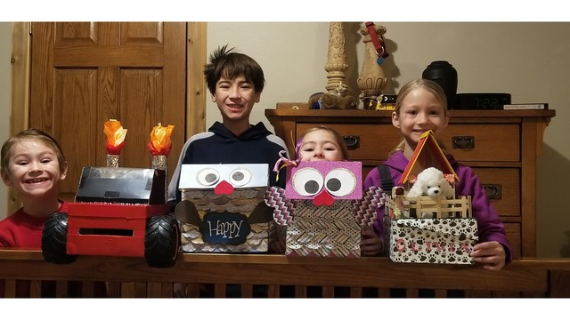 ushare Jonah with Monster truck Sam with male owl Nessa with female owl Olivia with puppy house Courtesy Patty Anderson_1550076876991.jpg.jpg