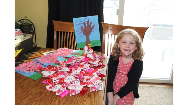 uShare Ava with her valentines made for classmates at CC Lee Elementary Courtesy Cindy Beard_1550184297611.jpg.jpg