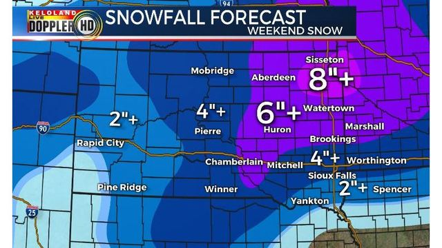 Kelo Weather Map.Storm Center Update Friday Am March 8